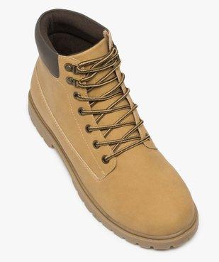Boots homme à semelle crantée et lacets - Les Supaires à col contrastant et lacets bicolores vue5 - GEMO (CASUAL) - GEMO