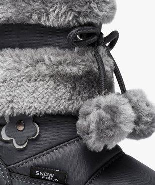 Après-ski fille avec tige en maille peluche et pompons vue6 - GEMO (ENFANT) - GEMO