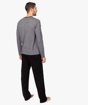 Pyjama homme bicolore à manches longues vue3 - GEMO(HOMWR HOM) - GEMO