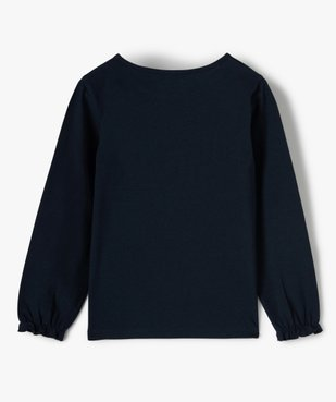 Tee-shirt fille avec motif et sequins brodés – Lulu Castagnette vue3 - LULUCASTAGNETTE - GEMO