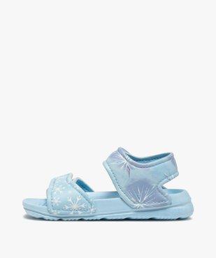 Sandales de plage fille à scratch – Reine des Neiges vue3 - REINE DES NEIGE - GEMO