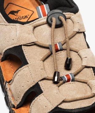 Sandales homme tout terrain dessus cuir - Roadsign vue6 - ROADSIGN - GEMO