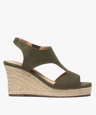 Sandales femme unies à talon compensé dessus couvrant vue1 - GEMO(URBAIN) - GEMO