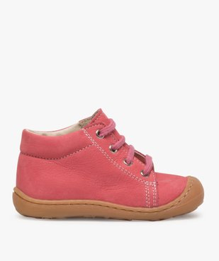 Chaussures premiers pas bébé fille en cuir à lacets vue1 - Nikesneakers(BEBE DEBT) - Nikesneakers