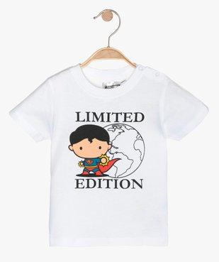 Tee-shirt bébé garçon à manches courtes - Justice League imprimé Superman vue1 - DC COMICS - GEMO