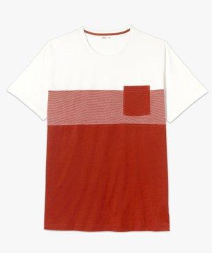 Tee-shirt homme tricolore avec poche poitrine vue4 - GEMO (G TAILLE) - GEMO