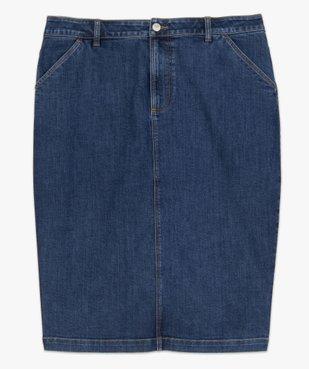 Jupe femme en jean longueur genou vue4 - GEMO (G TAILLE) - GEMO