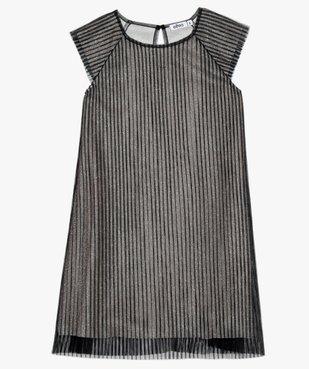 Robe de fête fille en tulle plissé et paillettes vue2 - Nikesneakers (ENFANT) - Nikesneakers