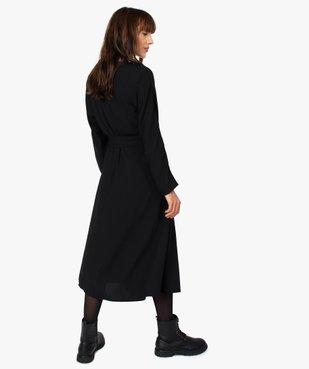 Robe femme à manches longues avec ceinture vue3 - GEMO(FEMME PAP) - GEMO