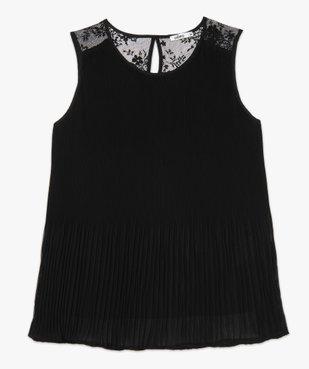 Chemise femme plissée sans manches avec dentelle vue4 - GEMO(FEMME PAP) - GEMO