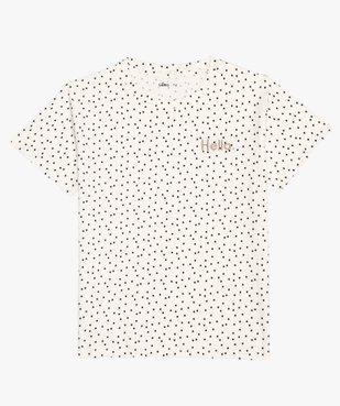 Tee-shirt fille imprimé avec broderie scintillante vue2 - GEMO (JUNIOR) - GEMO