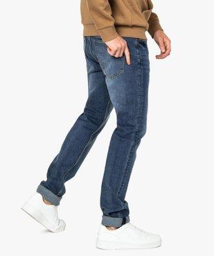 Jean homme straight en coton stretch vue3 - GEMO (HOMME) - GEMO