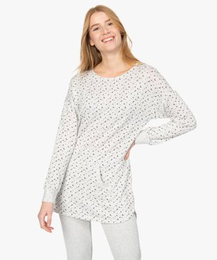 Haut de pyjama femme à manches longues imprimé vue1 - GEMO(HOMWR FEM) - GEMO