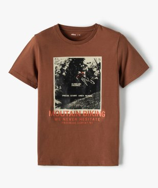 Tee-shirt garçon à manches courtes et grand motif vue2 - GEMO (JUNIOR) - GEMO