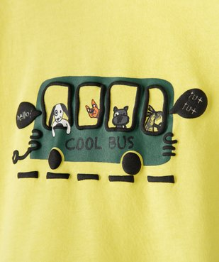 Tee-shirt bébé garçon à manches courtes avec motifs vue3 - GEMO C4G BEBE - GEMO