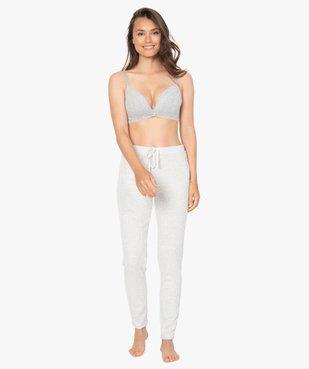 Pantalon de pyjama femme en maille côtelée vue5 - Nikesneakers(HOMWR FEM) - Nikesneakers