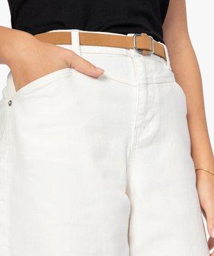 Pantalon femme coupe ample avec ceinture amovible vue2 - GEMO(FEMME PAP) - GEMO