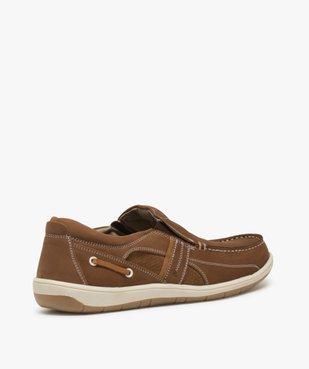 Chaussures bateau homme unies en cuir – Terre de Marins vue4 - TERRE DE MARINS - GEMO