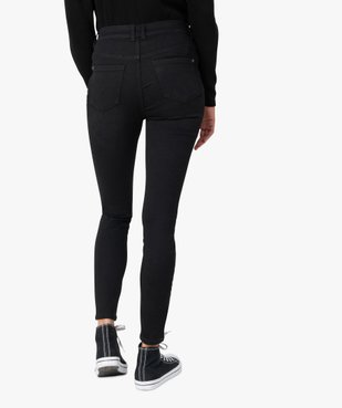 Jean femme skinny taille haute super stretch noir uni vue3 - GEMO(FEMME PAP) - GEMO