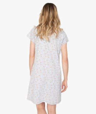 Chemise de nuit femme imprimée à manches courtes vue3 - GEMO(HOMWR FEM) - GEMO