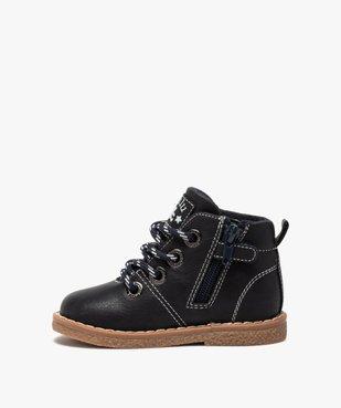 Boots bébé garçon à lacets et zip – LuluCastagnette vue3 - LULU CASTAGNETT - GEMO