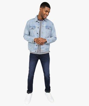 Blouson homme en jean coupe droite vue5 - GEMO (HOMME) - GEMO