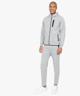 Pantalon homme en maille à taille élastiquée vue5 - GEMO (HOMME) - GEMO