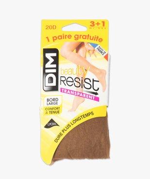Mi-bas femme transparents Beauty Resist (lot de 4) - Dim vue2 - DIM - GEMO