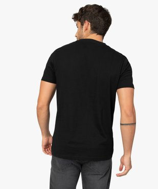 Tee-shirt homme à manches courtes et col V vue3 - GEMO (HOMME) - GEMO