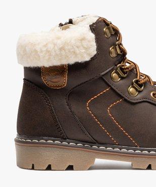 Boots garçon style chaussures de montagne à col sherpa vue6 - GEMO (ENFANT) - GEMO