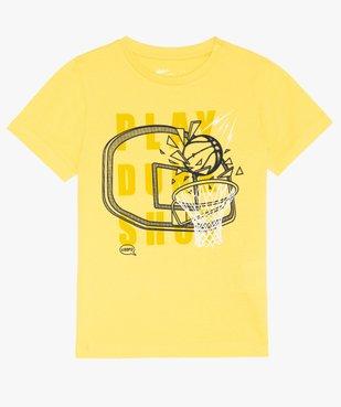 Tee-shirt garçon avec motif et inscription vue1 - GEMO (ENFANT) - GEMO