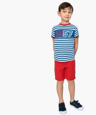 Tee-shirt garçon à rayures et inscriptions – Lulu Castagnette vue5 - LULUCASTAGNETTE - GEMO