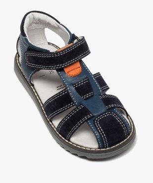 Sandales garçon à brides en cuir et fermeture scratch vue5 - Nikesneakers (ENFANT) - Nikesneakers