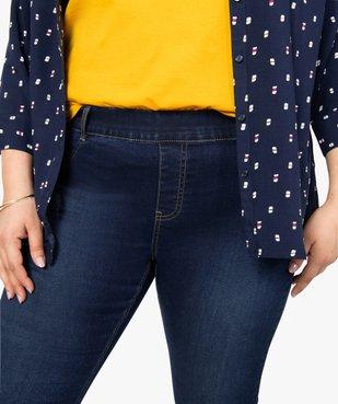 Jegging femme taille normale en coton stretch vue2 - GEMO (G TAILLE) - GEMO