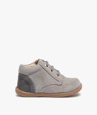 Chaussures de marche bébé en cuir bicolores vue1 - GEMO(BEBE DEBT) - GEMO