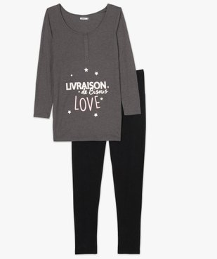 Pyjama de grossesse taille haute et manches longues vue4 - Nikesneakers (MATER) - Nikesneakers