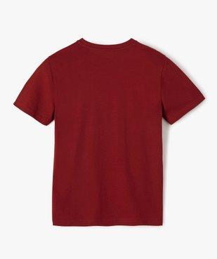 Tee-shirt garçon à manches courtes imprimé streetwear vue3 - GEMO (JUNIOR) - GEMO