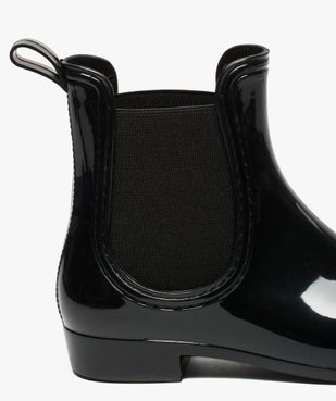 Bottes de pluie unies noires style chelsea boots vue6 - GEMO (EQUIPT) - GEMO