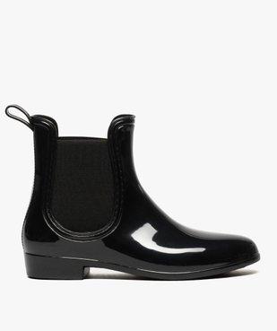 Bottes de pluie unies noires style chelsea boots vue1 - GEMO (EQUIPT) - GEMO