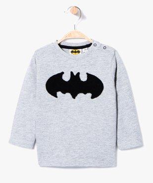 Tee-shirt manches longues motif Batman en bouclette vue1 - BATMAN - GEMO