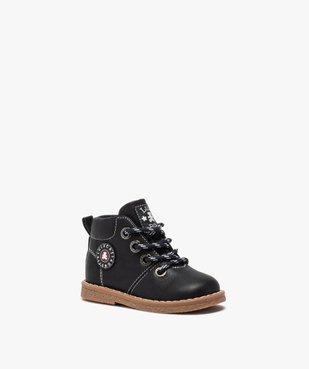 Boots bébé garçon à lacets et zip – LuluCastagnette vue2 - LULU CASTAGNETT - GEMO