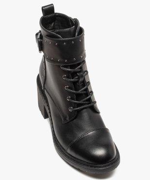 Boots femme unies à talon carré et brides à clous vue5 - GEMO(URBAIN) - GEMO