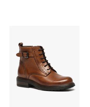 Boots fille zippées dessus cuir uni avec bordures perforées vue2 - GEMO (ENFANT) - GEMO
