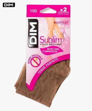 Lot de 2 paires de socquettes Sublim voile brillant DIM vue1 - DIM - GEMO