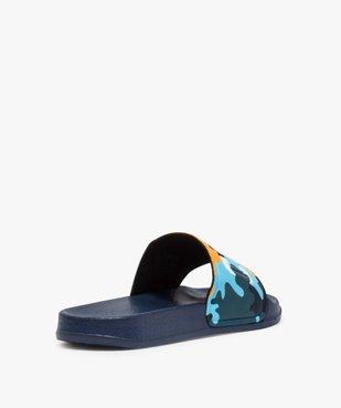Mules de piscine garçon à bandeau camo « Cool » vue4 - Nikesneakers (ENFANT) - Nikesneakers