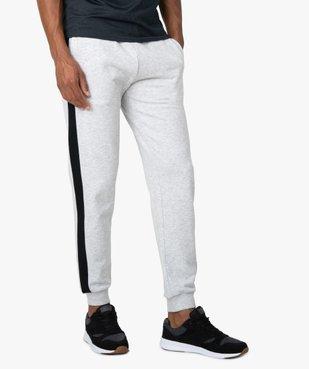 Pantalon de jogging homme avec bandes sur les côtés  vue1 - GEMO C4G HOMME - GEMO
