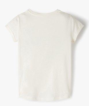 Tee-shirt fille à manches courtes avec motif en relief vue3 - GEMO C4G FILLE - GEMO