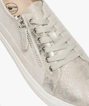 Tennis femme métallisées à lacets avec zip décoratif vue6 - GEMO (SPORTSWR) - GEMO