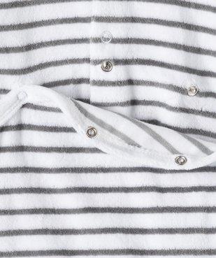 Pyjama bébé garçon en velours rayé et brodé vue3 - GEMO(BB COUCHE) - GEMO