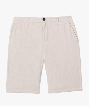 Bermuda homme en lin et coton vue4 - Nikesneakers (HOMME) - Nikesneakers